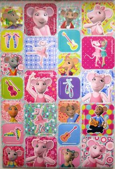 *NEW* ANGELINA BALLERINA * Party 1 Sticker Booklet 226 stickers   eBay