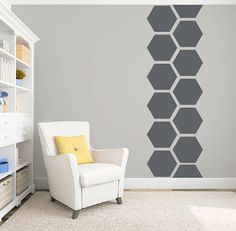Honeycomb large wall pattern decal for your home.  I have a large selection of name decals and other fun decals in my shop. If you like what