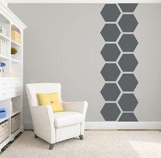 Hexagon honeycomb wall pattern decal DB346 large pattern
