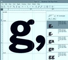 Type 3.2 font editor