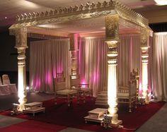 Indian Wedding Mandap. White and Pink- Simple Mandap