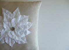 DIY Christmas pillow...I totally did this except mine looks better. Pottery barn knock off. :)