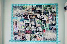 underbar vägg med washi å foton :)    al'a Rudhner