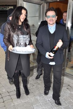 Cheers! Bono parties at the races with wife Ali
