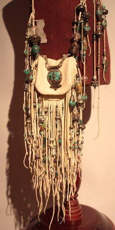 showdiva designs RoCk n RoLL Leather Medicine Bag by showdiva