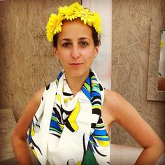 Beautiful Buyer's Remorse Floral Halo and scarf!