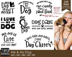 [Promotion] Have one special dog? This svg and cut file bundle for you! (If you have more than one, there is a bundle for you too - check for the pin) Me And My Dog, Just For You, Tara Reed, Circuit Projects, Diy Projects, Cricut Craft Room, Dog Quotes, Dog Sayings, Pets