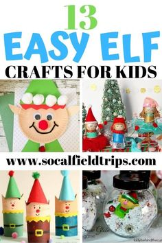 Share the holiday spirit and make one of these 13 Easy Elf Crafts For Kids that are sure to bring a smile to Santa's face! Share the holiday spirit and make one of these 13 Easy Elf Crafts For Kids that are sure to bring a smile to Santa's face! Christmas Crafts For Kids To Make, Toddler Christmas, Fun Crafts For Kids, Toddler Crafts, Holiday Crafts, Christmas Elf, Craft Kids, Christmas Boxes, Christmas Ideas