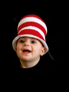 ALEX, how fun its this Dr Seuss Inspired Crochet Cat in the Hat by BaaBaaBabyBoutique, $33.00