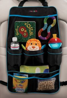 Smart tips for less distracted driving: Munchkin Backseat organizer lets kids get their own snacks and toys