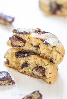 Mounds Bar Chocolate Chunk Cookies - Soft, chewy and stuffed to the max with dark chocolate and Mounds! Crazy good!!