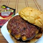 Grill Mates Onion & Cheese Stuffed Burger   Thank you to http://www.smokedngrilled.com/grill-mates-onion-and-cheese-stuffed-burger/
