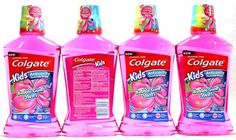 Childrens Oral Care: 4 Colgate Kids Anticavity Fluoride Rinse Bubble Gum Swirl 16.9 Oz -> BUY IT NOW ONLY: $30.99 on eBay!
