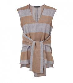 Horizontal Stripe Tie Top