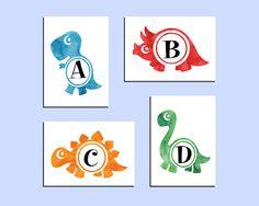 Dinosaur alphabet prints. Set of 4 prints 5x7. Nursery prints. Instant download printable. PDF diy digital wall art.Kids bedroom print. Dinosaur Alphabet, Alphabet Print, Bedroom Prints, Nursery Prints, Baby Sign Language, Digital Wall, Kids Prints, Kids Bedroom, Dinosaurs