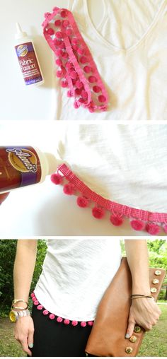DIY pom pom tee // a creative day