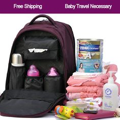 Mummy bag shoulders multifunctional backpack Pregnant women bag Large capacity nappy bag baby diaper bags babies care product $46.80