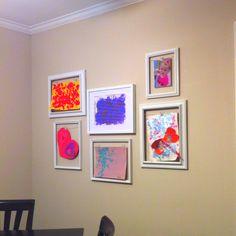Emmy's art wall