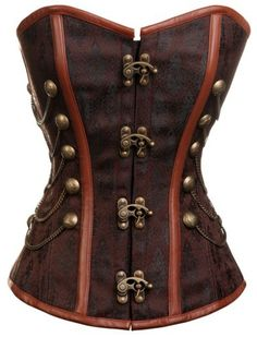 Victorian aesthetic, leather and black silk, metal and chains. Definitely Steampunk-worthy.