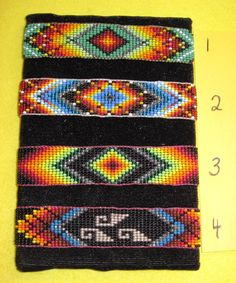 Free Seed Bead Loom Patterns | Native American Huichol Beaded Cuff Bracelet Your Choice FREE SHIPPING