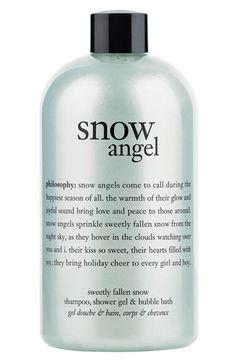philosophy 'snow angel' shampoo, shower gel & bubble bath - so fresh I love it!!