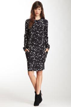 Star Print Silk Shirt Dress on HauteLook