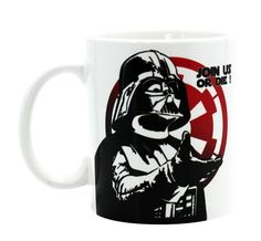 Join us or die! The new slogan of this Star Wars mug. Join the Darth Vader troops (or die) and show your allegiance to the Empire with this Star Wars mug.Mug in high quality ceramic Standard size Taza Star Wars, Mug Star Wars, Star Wars Yoda, Darth Vader, Geek Stuff, Fun Stuff, Join, Stars, Tableware