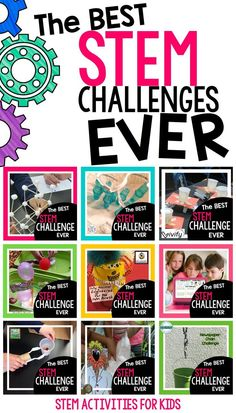 The best STEM challenges from the writers of STEM Activities for Kids. Toothpick STEM, Roller Coaster STEM, Space Lander STEM, Cargo Ship Design, Animal Adaptation, Digital STEM Challenges, Simple Machines, Sammie STEM Family Activity, and Newspaper Chain