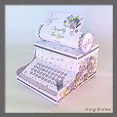 Vintage Violet Typewriter Gift Box
