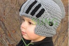 2015 Novelty Children Roman Knight Armor Caps Cool Cute Winter Handmade  Knitted Hats Helmet for Baby Boy Girl Crocheted Beanies df2f949dc3f8