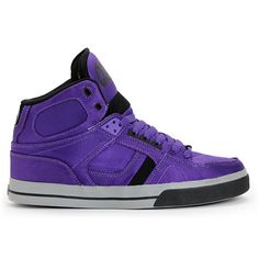 Osiris NYC 83 Vulc Ballistic Purple & Black Skate Shoe