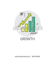 Financial Growth Graph Success Business Icon Vector Illustration