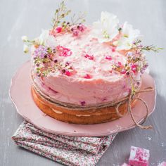 A Turkish Delight Bavarois Cake is the perfect teatime treat - without the bake!