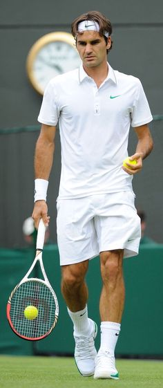 Roger Federer at Wimbledon. Federer is probably the greatest all round  sportsman ever  behind Don Bradman. f8d849982