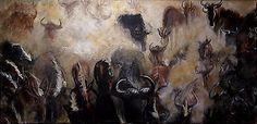 Wilde-Herde-Afrika-Akrylgemaelde-2016-Linewand-70x30cm