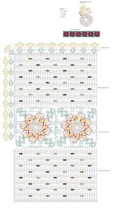 Tapete Em Crochê Pom Pom com flores