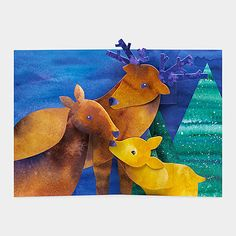 top3 by design - MoMA - nestling deer christmas card