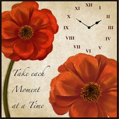 Floral Wall Clock ($54) ❤ liked on Polyvore featuring home, home decor, clocks, battery wall clocks, battery powered clock, battery clock, motivational plaques and roman numeral clock