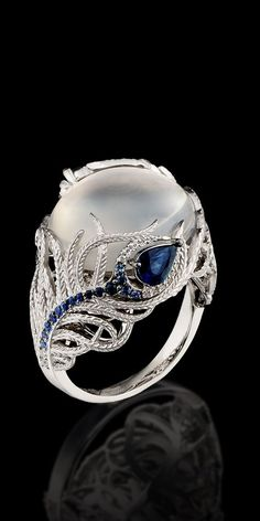 1f1e17181998 Master Exclusive Jewellery – Ring – 18K white gold, moonstone 12,21 ct,