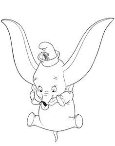 Dumbo Performs A Stunt Coloring Page From Category Select 30215 Printable Crafts Of Cartoons Nature Animals Bible And Many More