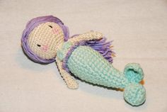 Crochet mermaid doll Gift for girls Amigurumi от UAmadeForYou