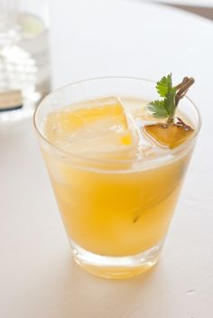 Pineapple Cliantro Serrano Cocktail....might be the perfect start to a beautiful spring weekend. :)