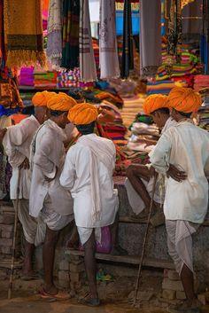 Camel herders at Pushkar market