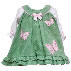 Infant Butterfly Appliqued Jumper and Top