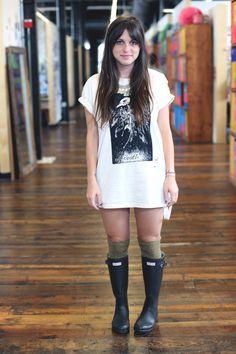 Rain Boots + Knee Highs