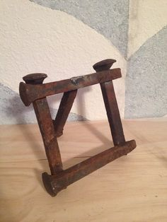 Railroad spike picture frame  by Audreykays on Etsy, $30.00
