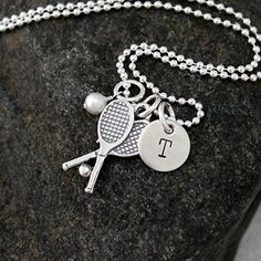 Tennis Necklace   Sterling Silver by GracieAndMeDesign on Etsy