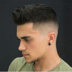 Popular Haircuts For Short Hair Men Mens Hairstyles With Beard, Quiff Hairstyles, Cool Hairstyles For Men, Cool Haircuts, Haircuts For Men, Short Hair Cuts, Short Hair Styles, Gents Hair Style, Faded Hair