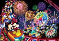 Disney Puzzle 2000 Pieces | 2000-542 Tenyo Disney Mickey Minnie Fireworks Japan Jigsaw Puzzle