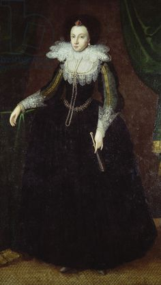 Dorothy Huddleston (nee Dormer), c.1610-15 (oil on canvas), a niece of Jane Dormer, who married Philip II's first ambassador to Elizabeth I's court, the Duke of Feria.